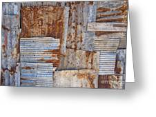 Corrugated Iron Background Greeting Card