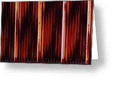Corrugated Patterns In Orange And Black Greeting Card