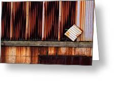 Corrugated Steel Mill Wall Alton Il Greeting Card