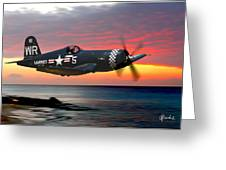 Corsair At Sundown Greeting Card
