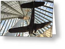 Corsairs In The National Marine Corps Museum In Triangle Virginia Greeting Card