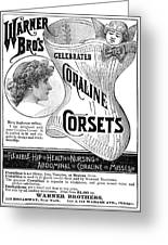 Corset Advertisement, 1885 Greeting Card