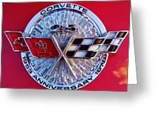 Corvette 25th Anniversary Emblem 1 Greeting Card