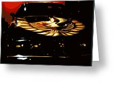 Trans Am Against Red Greeting Card