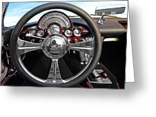 Corvette C1 - In The Driver's Seat Greeting Card