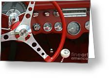 Corvette Classic Red Greeting Card