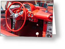 Corvette Dashboard Greeting Card