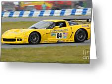 Corvette Gt1 C6 Race Car Greeting Card