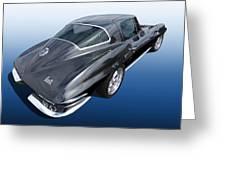 Corvette Stingray 1966 Greeting Card