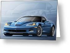 Corvette Zr1 Illustration Greeting Card