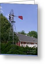 Cosley Zoo Windmill And Barn Greeting Card