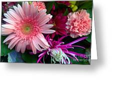 Cosmic Bouquet Greeting Card