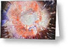 Cosmic Burst Orange Brown White Abstract Art By Chakramoon Greeting Card