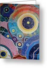 Cosmic Carnival Vl Aka Circles Greeting Card