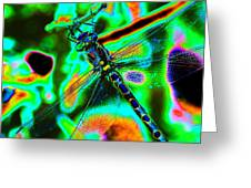 Cosmic Dragonfly Art 1 Greeting Card