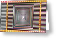 Cosmic Energy Tunnel Infinity Healing Art Background Designs  And Color Tones N Color Shades Availab Greeting Card
