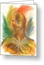 Cosmic Feminine Greeting Card