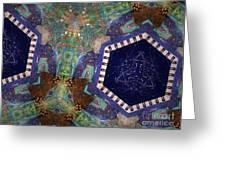Cosmic Flight Of Dragon Greeting Card