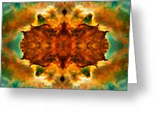 Cosmic Kaleidoscope 2  Greeting Card by Jennifer Rondinelli Reilly - Fine Art Photography
