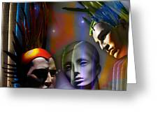 Cosmic Mannequins Triad Greeting Card