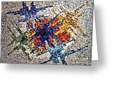 Cosmic Mosaic Greeting Card