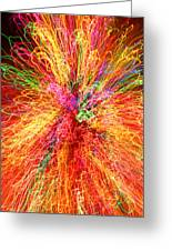 Cosmic Phenomenon Or Christmas Lights Greeting Card