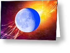 Cosmic Rhythm - Within Border Greeting Card