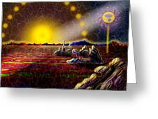 Cosmic Signpost Greeting Card