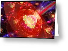 Cosmic Space Station Greeting Card