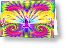 Cosmic Spiral Ascension 09 Greeting Card
