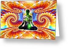 Cosmic Spiral Ascension 10 Greeting Card