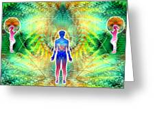 Cosmic Spiral Ascension 12 Greeting Card