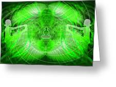Cosmic Spiral Ascension 24 Greeting Card