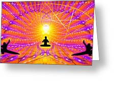 Cosmic Spiral Ascension 57 Greeting Card