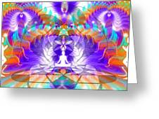 Cosmic Spiral Ascension 61 Greeting Card