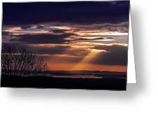 Cosmic Spotlight On Shannon Airport Greeting Card