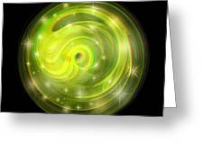 Cosmic Swirl - Use Red-cyan Filtered 3d Glasses Greeting Card
