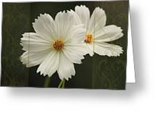 Cosmos And Hearts Greeting Card