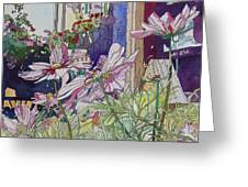 Cosmos At The Coffee Shoppe Greeting Card