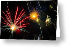 Cosmos Fireworks Greeting Card by Inge Johnsson