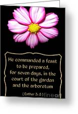 Cosmos Flower With Bible Quote From Esther Greeting Card