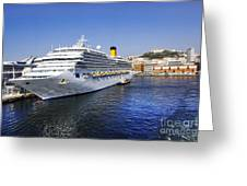 Costa Cruise Ship Greeting Card