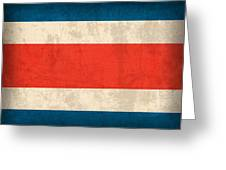 Costa Rica Flag Vintage Distressed Finish Greeting Card