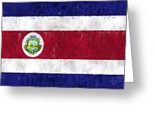 Costa Rica Flag Greeting Card