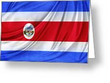 Costa Rican Flag Greeting Card