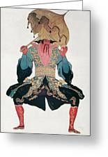 Costume Design For A Chinaman Greeting Card