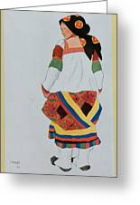 Costume Design For A Peasant Girl, 1922 Greeting Card