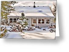 Cosy In Winter Greeting Card