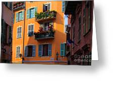Cote D'azur Alley Greeting Card