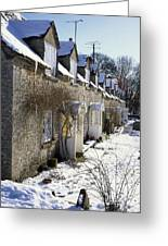 Cotswolds Cottages In Winter  Greeting Card